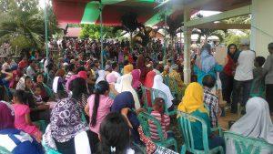 Suasana kampanye dialogis pasangan Yasti dan Yanny
