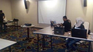 Proses scan C1 di Hotel Sutan Raja Kotamobagu