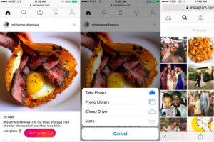 Tampilan Instagram melalui Web