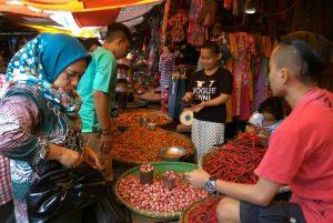 Pedagang barito di pasar Serasi Kotamobagu