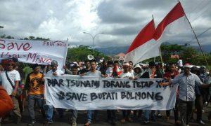 Bolmong Daerah  Ribuan Warga Turun ke Jalan Lokasi PT Conch Tak Masuk Kawasan Industri Tertentu