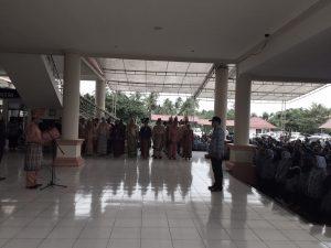 Libur, Ribuan ASN Bolmong Tetap Ikut Upacara Berita Bolmong Berita Daerah
