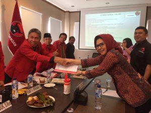 Calon Walikota Tunggal, Tatong Resmi Daftar di PDIP Berita Politik