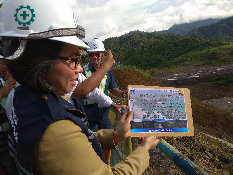 Kunjungan Menteri PUPR, Yasti Tulis Ini dalam Secarik Kertas Berita Bolmong Berita Daerah