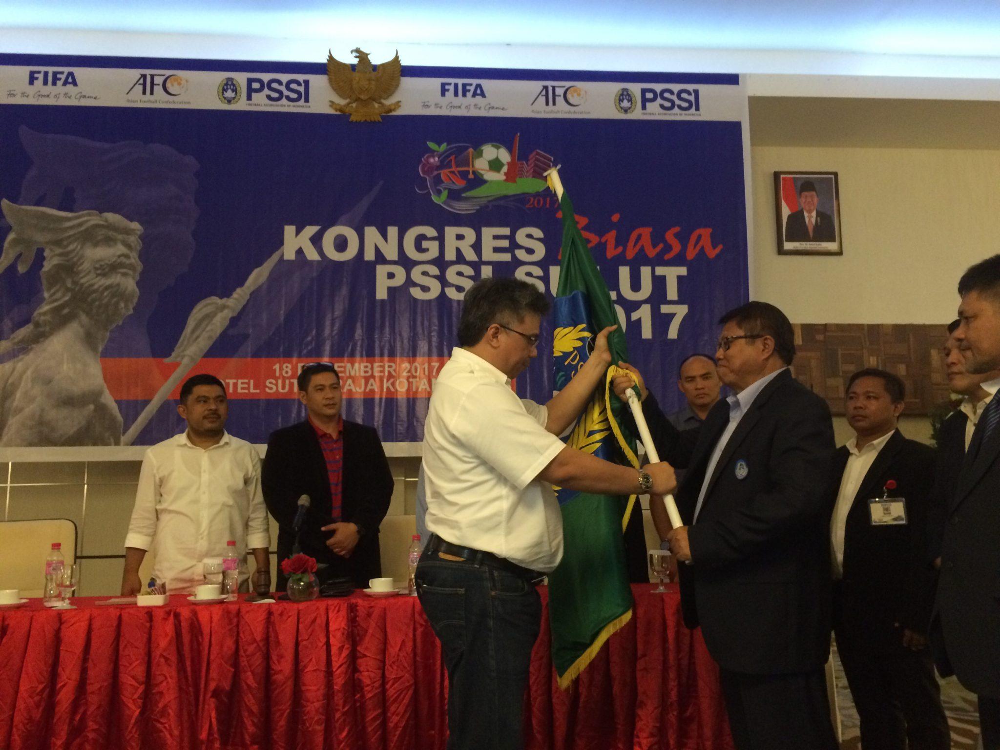 Olahraga Sulut  Tony Ponongoa Paul Nelwan Meiddy Makalalag Kongres PSSI Sulut Hasman Bahansubu Exco PSSI Sulut