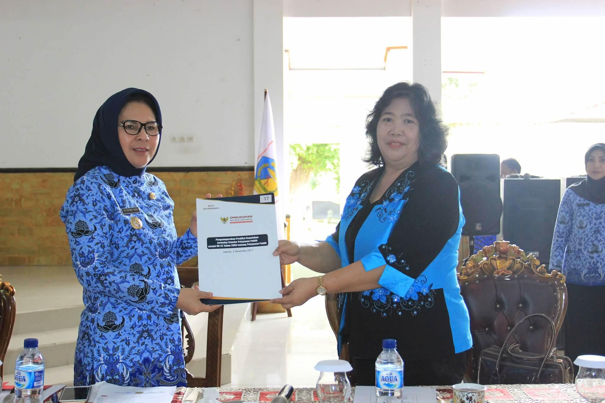 Penilaian Ombudsman, Pelayanan di Kotamobagu Peringkat 2 se-Sulut Advertorial