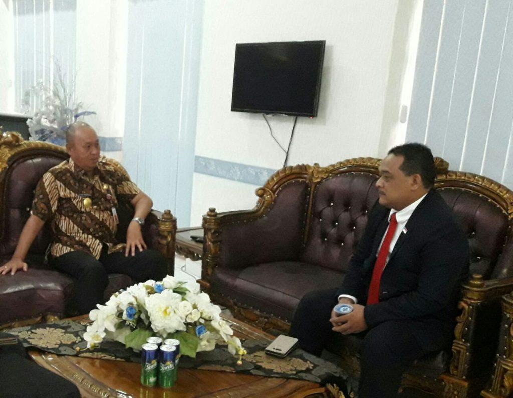 Pjs Walikota Terima Kunjungan Wakil Ketua Komite I DPD RI   Berita Daerah Berita Kotamobagu