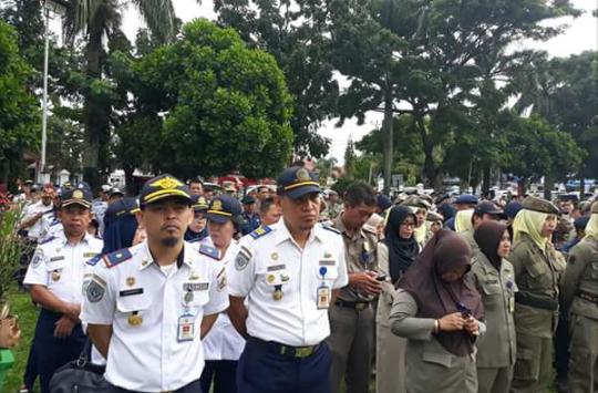 Walikota Tatong Bara Aktif Lagi, Langsung Pimpin Apel Advertorial