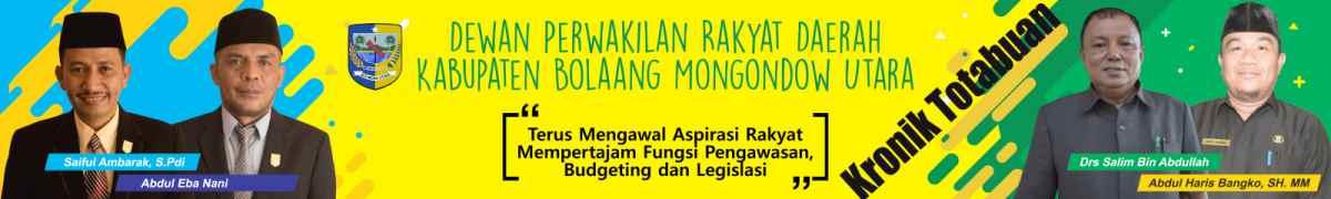 Iklan Resmi DPRD ( DEWAN PERWAKILAN RAKYAT DAERAH ) KABUPATEN BOLAANG MONGONDOW UTARA ( BOLMUT )