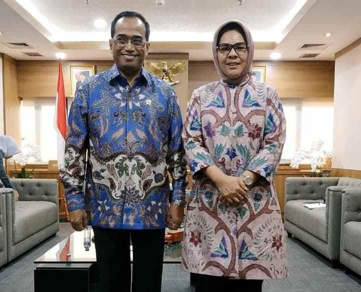 Temui Menteri Perhubungan, Tatong Bara Minta Ini Berita Kotamobagu