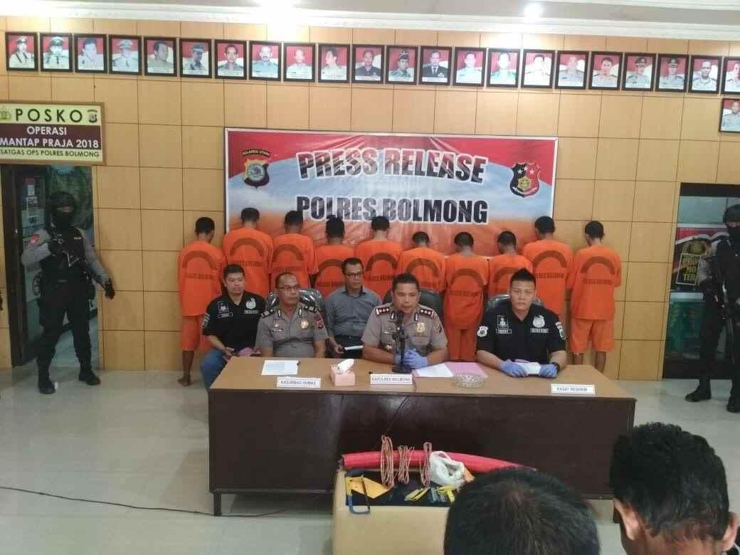 PT Conch Rugi Rp3 Miliar,Polres Bolmong Tahan 39 Pencuri Kabel Berita Hukum