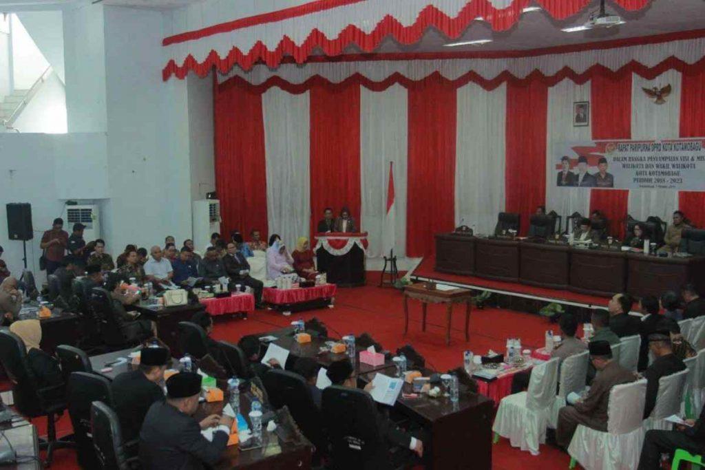 DPRD Kotamobagu Gelar Paripurna Penyampaian Visi dan Misi Walikota Periode 2018- 2023 Advertorial