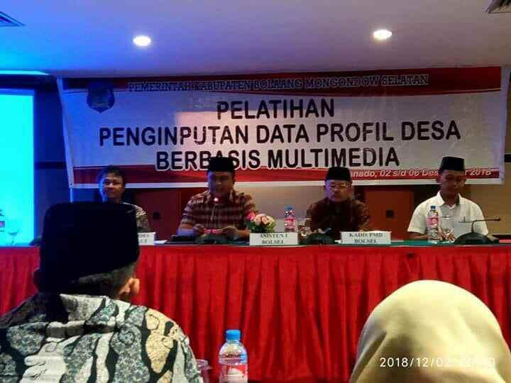 Pemkab Bolsel Laksanakan Pelatihan Input Data dan Profil Bagi 81 Desa Advertorial Berita Bolsel