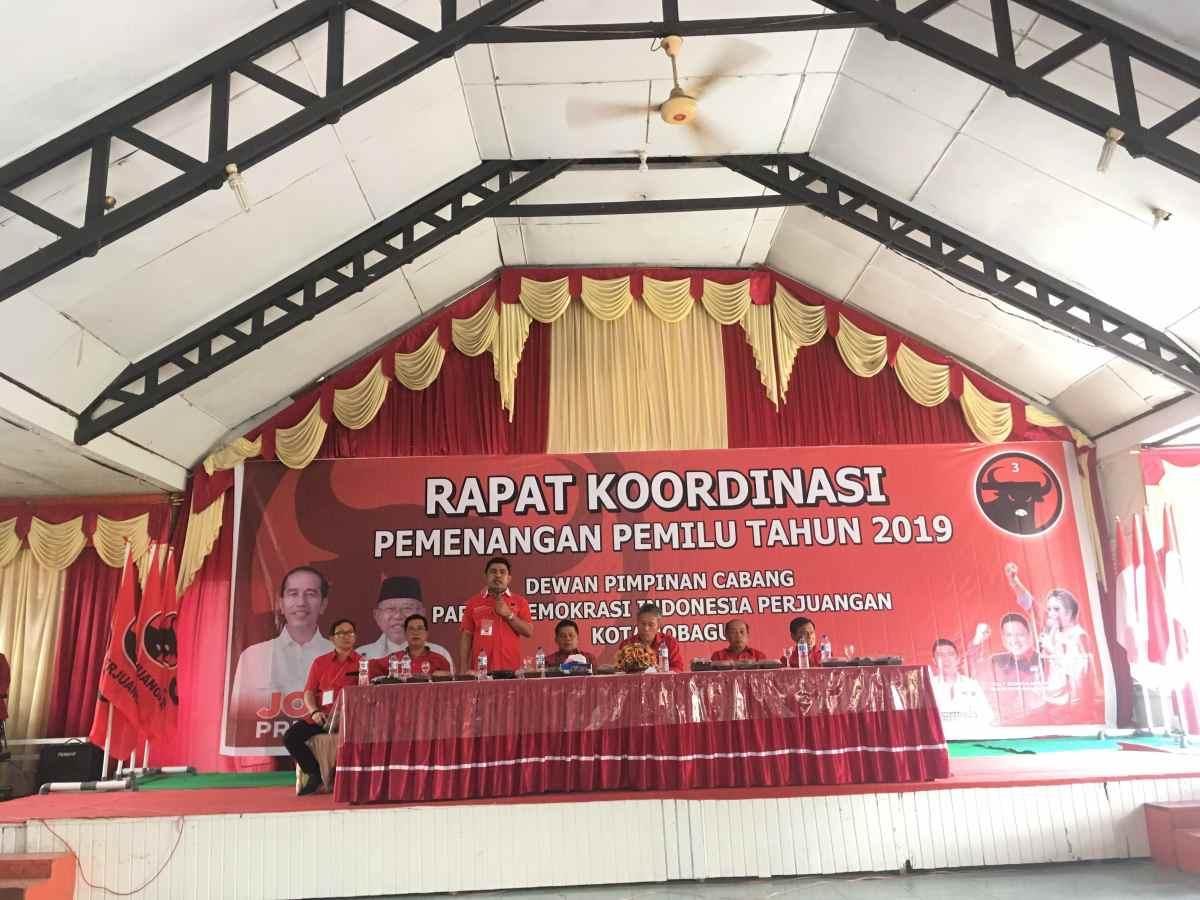 DPC PDI Perjuangan Kotamobagu Gelar Rakorcab, Begini Target Dipasang di Pilpres dan Pileg 2019! Berita Politik