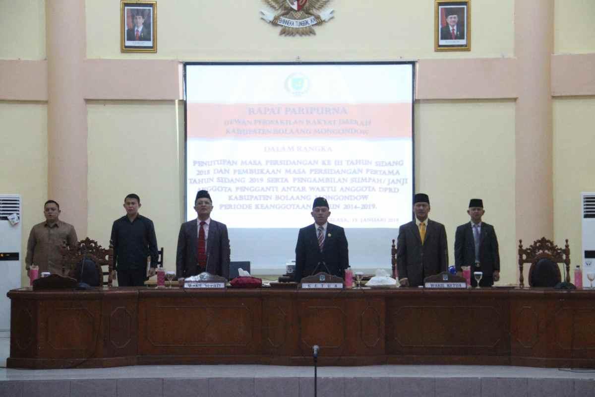 DPRD Bolmong Gelar Rapat Paripurna Pelantikan Tiga Anggota Baru Berita Bolmong