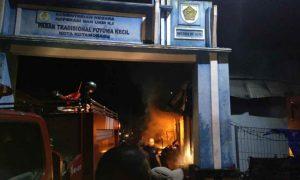 Dari Sini Sumber Api Penyebab Kebakaran Pasar Poyowa Kecil! Berita Kotamobagu