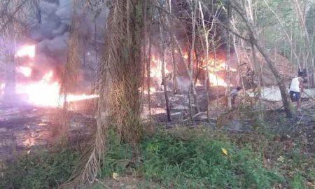 Sumur Minyak Ilegal Meledak di Jambi, Satu Orang Terbakar Berita Nasional