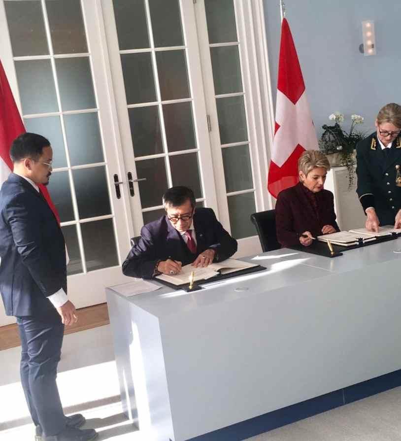 Menkumham Teken Perjanjian Mutual Legal Assistance Indonesia- Swiss Berita Nasional