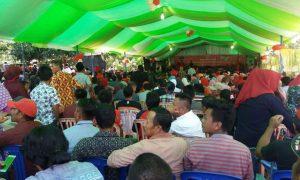 Ribuan Warga Boltim Padati Lokasi Pelantikan Tim Pemenangan Herson Mayulu Berita Bolsel