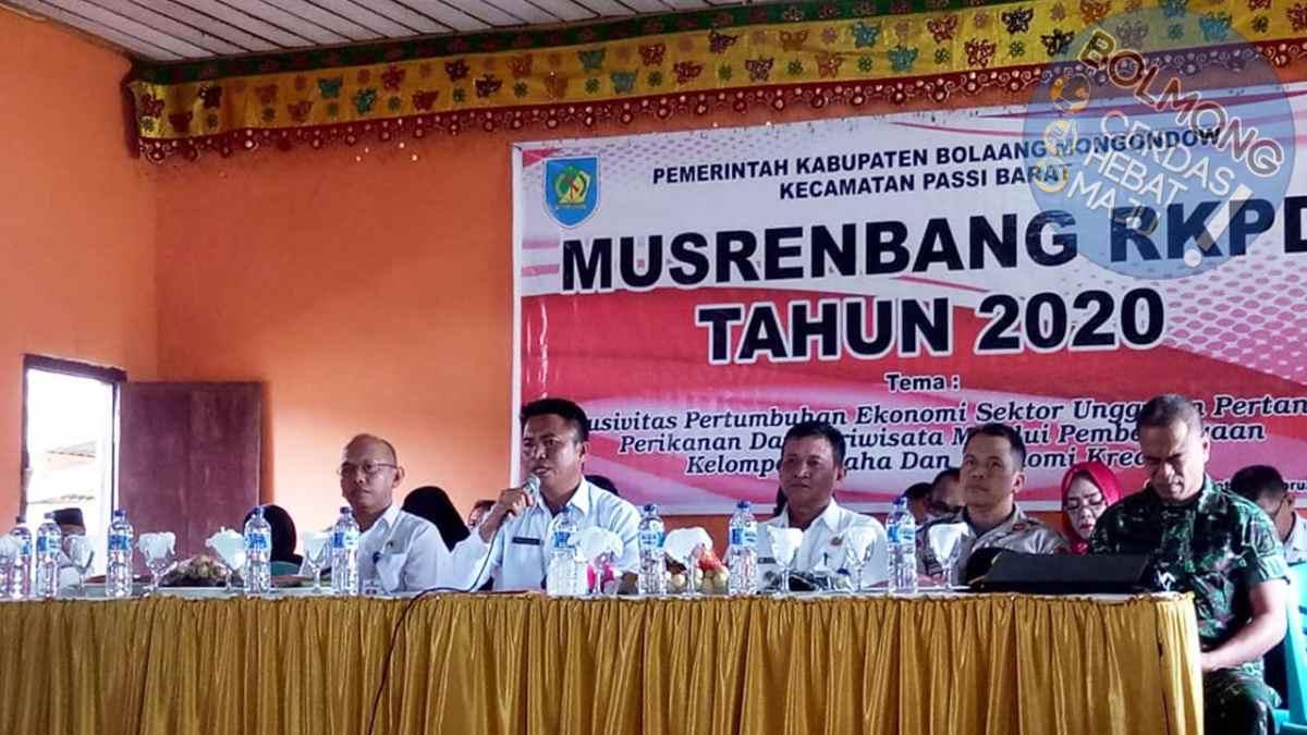 Musrenbang di Empat Kecamatan Dipimpin Langsung Sekda Bolmong Advertorial