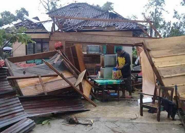 Berikut Jumlah Bangunan Rusak karena Puting Beliung di Dumoga Timur Berita Bolmong