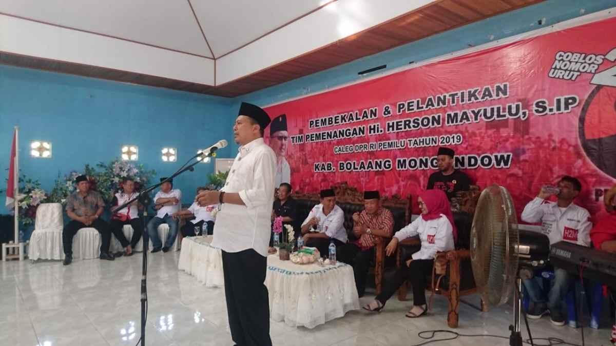 Lima Kecamatan Pantura di Bolmong Akan Menangkan Herson Mayulu ke DPR RI Berita Bolsel Berita Nasional Berita Politik Sulut
