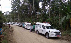 Minsel dan Boltim Kirim Bantuan, 25 Unit Ambulans Disiagakan di Bakan Berita Bolmong Berita Boltim