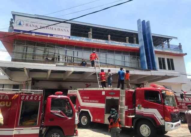 Ini Penyebab Kebakaran di Bank Prisma Dana Kotamobagu Berita Kotamobagu