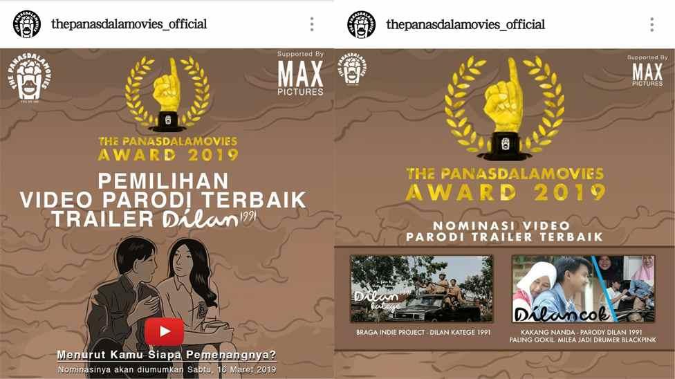 Dilan Katege 1991 Masuk Nominasi The Panasdalam Award Berita Hiburan Berita Kotamobagu