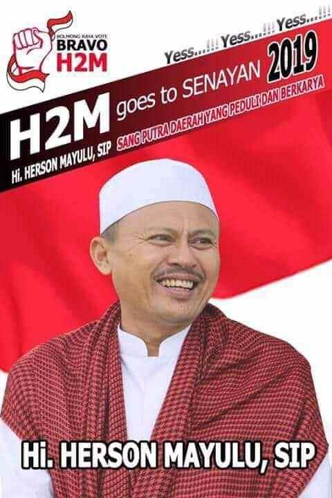 BMR Hanya Satu Kursi untuk DPR RI dan Itu Herson Mayulu! Berita Bolsel Berita Nasional Berita Politik Sulut
