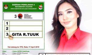 Gita Ratnasari Tuuk Sangat Berpeluang Raih Satu Kursi PDIP di Dapil Lolayan Berita Bolmong Berita Politik Sulut