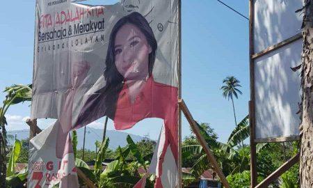 Baliho Dirusak, Gita Tuuk Maafkan dan Doakan Kebaikan untuk Pelaku Berita Bolmong Berita Politik Sulut