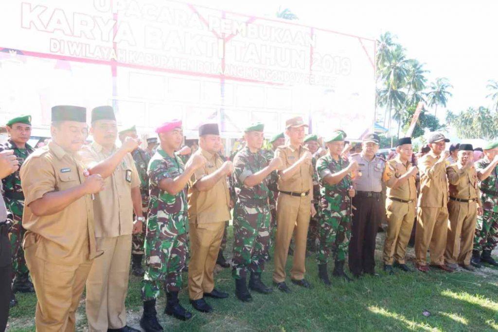 Bupati Buka Kegiatan Karya Bhakti TNI di Bolsel Berita Bolsel Berita Nasional Sulut