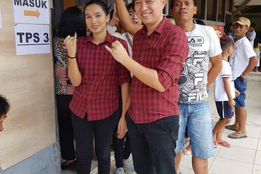 Gita Ratnasari Tuuk Mencoblos di TPS 3 Berita Bolmong Berita Politik Sulut