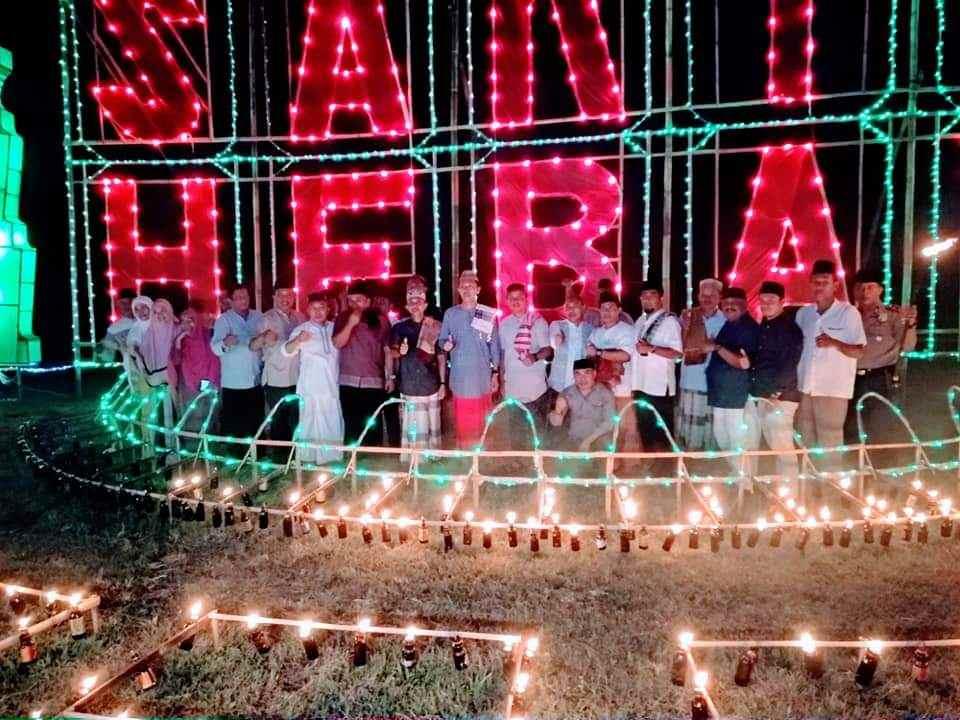 Tradisi Monuntul, 10.000 Lampu Botol Dinyalakan di Desa Sakti Berita Bolsel