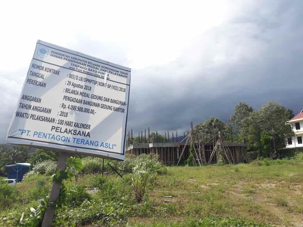 Proyek Gedung DPMPTST Rp3,1 Miliar Belum Didaftarkan di ULP Boltim Berita Boltim