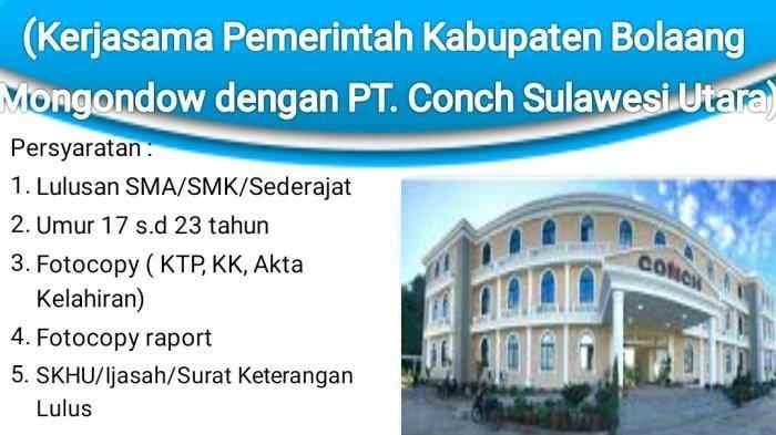 Ada Beasiswa Kuliah di Cina dari Pemkab Bolmong dan PT Conch. Lihat Syaratnya! Berita Bolmong