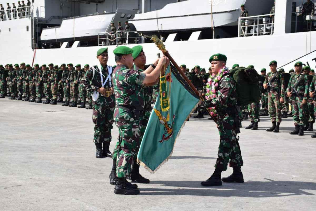 Pangdam XIII Merdeka Sambut Satgas Yonif 711 Penugasan dari Maluku Berita Nasional Sulut
