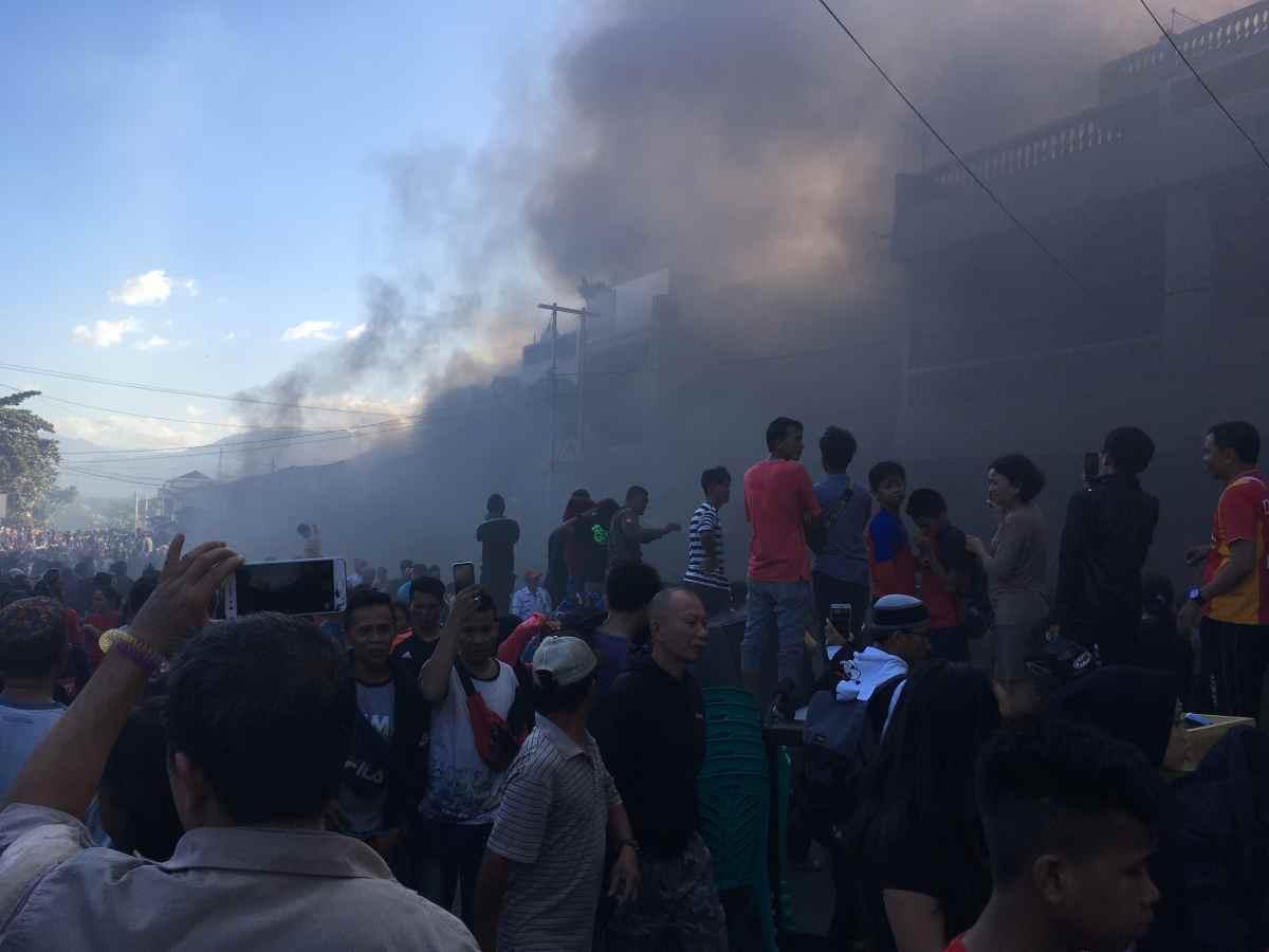 Pasar Serasi Kotamobagu Terbakar. Lihat Foto-fotonya! Berita Kotamobagu