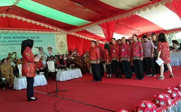 Tatong Lantik Nayodo Ketua Komda Lansia Berita Kotamobagu