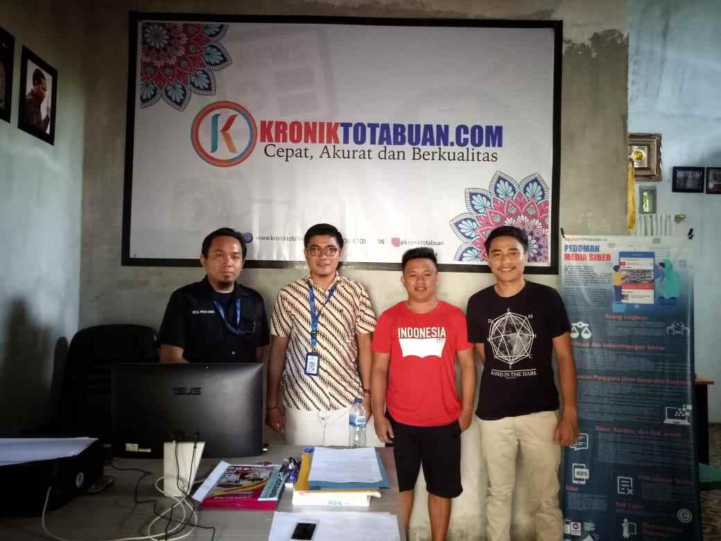 Tim Diskominfo Bolmong Kunjungi Kantor Redaksi Kronik Totabuan Berita Bolmong