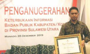 Berhasil Dalam Pengelolaan Informasi Publik, Pemkot Terima Penghargaan Berita Kotamobagu