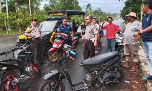 Bubarkan Balap Liar, Polsek Kotamobagu Amankan Tiga Remaja dan Sepeda Motor Berita Hukum