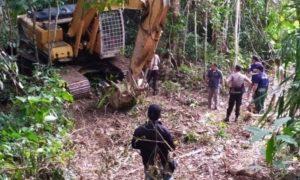 Menambang Dalam Kawasan TNBNW Dengan Eskavator, Dua Orang Resmi Ditetapkan Sebagai Tersangka dan Ditahan di Rutan Kotamobagu Berita Bolmong Berita Nasional Sulut