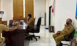Yarlis Rapat dengan Dirjen Bina Pembanguan Kemendagri Lewat Vidcon Berita Bolmong