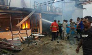 Tempat Kos Terbakar di Kampung Baru, Kerugian Ratusan Juta Berita Kotamobagu