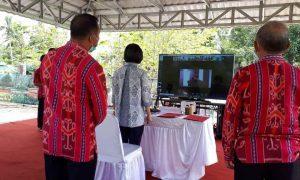 Pencapaian TPB-14, Bupati Yasti Ikuti Vidcon Peluncuran Kemitraan Kepala Daerah Pesisir Berita Bolmong