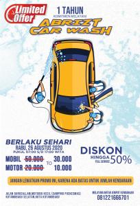 Genap Berusia Setahun, Besok Abrizt Car Wash Beri Promo Cuci Kendaraan Berita Kotamobagu