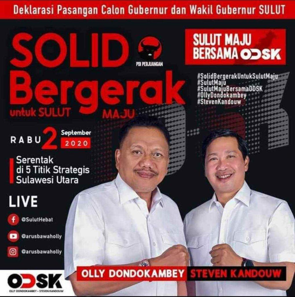 Target Menang Telak! 2 September Deklarasi Pasangan OD-SK Berita Politik Sulut