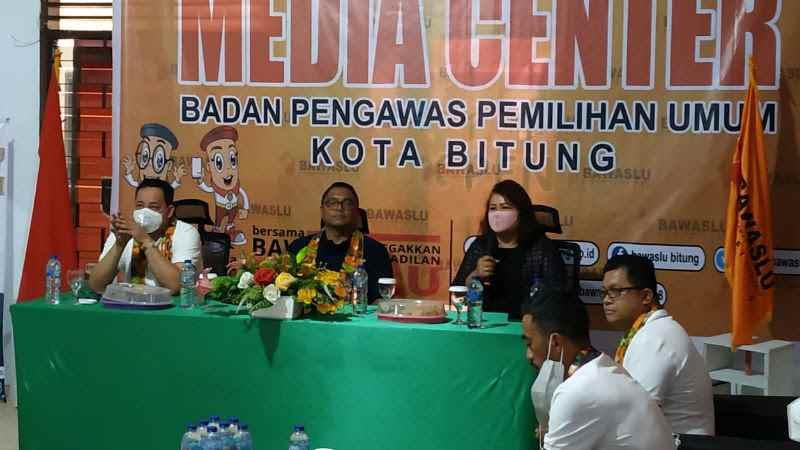 Pimpinan Bawaslu Sulut Dampingi Kordiv Hukum Bawaslu RI Kunjungi Bitung Sulut